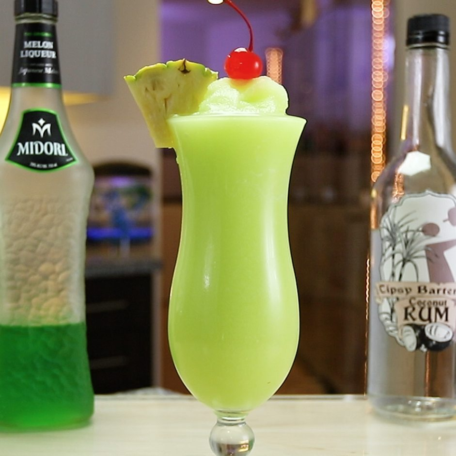 Midori Piña Colada | Green St Patrick's Day Drink Recipes You Must Try